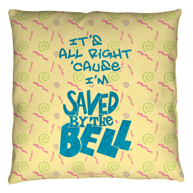 Saved By The Bell It's All Right Throw Pillow