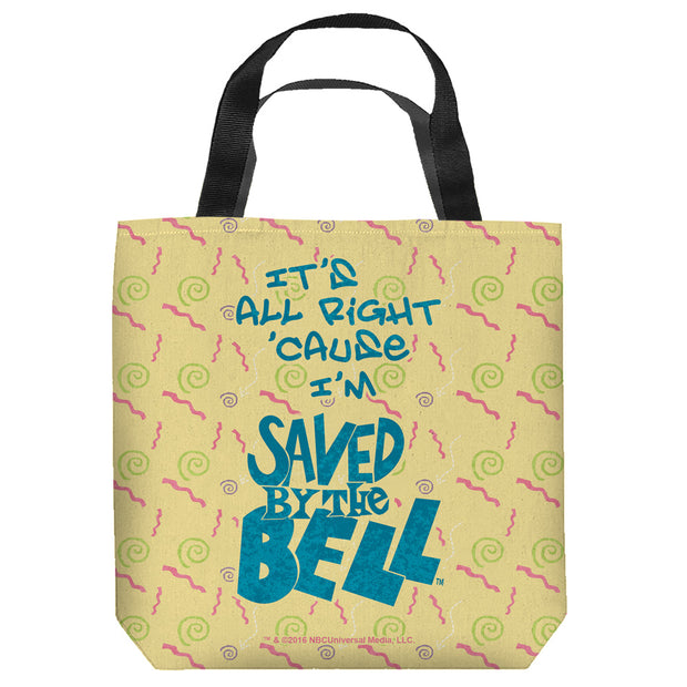 Saved By The Bell It's All Right Tote Bag