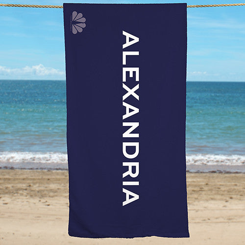 Personalized NBC Monochromatic Beach Towel