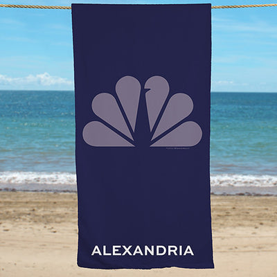 Personalized NBC Monochromatic Logo Beach Towel