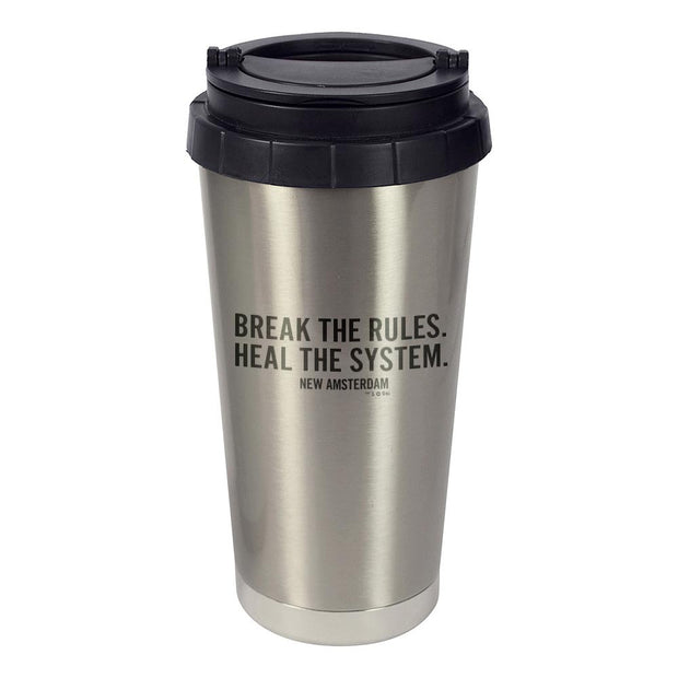 New Amsterdam Break the Rules Stainless Steel Travel Mug