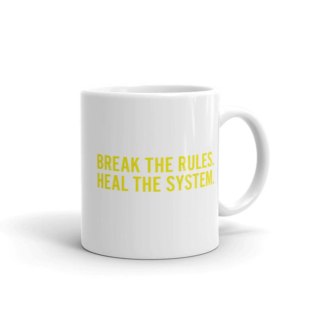 New Amsterdam Break the Rules White Mug