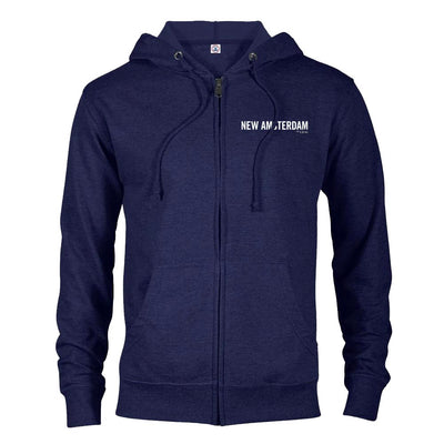 New Amsterdam Lightweight Zip Up Hooded Sweatshirt