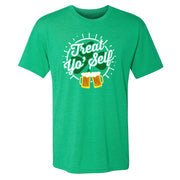 Parks and Recreation Treat Yo' Self St. Patrick's Day Men's Tri-Blend Short Sleeve T-Shirt
