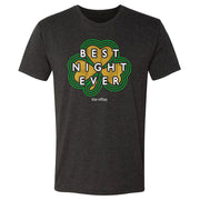 The Office Dunder MIfflin Best Night Ever St. Patrick's Day  Men's Tri-Blend Short Sleeve T-Shirt