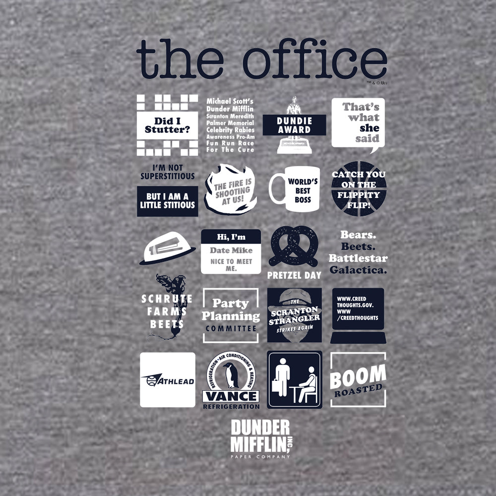 The Office Quote Mash-Up Women's Tri-Blend Short Sleeve T-Shirt-secondary-image