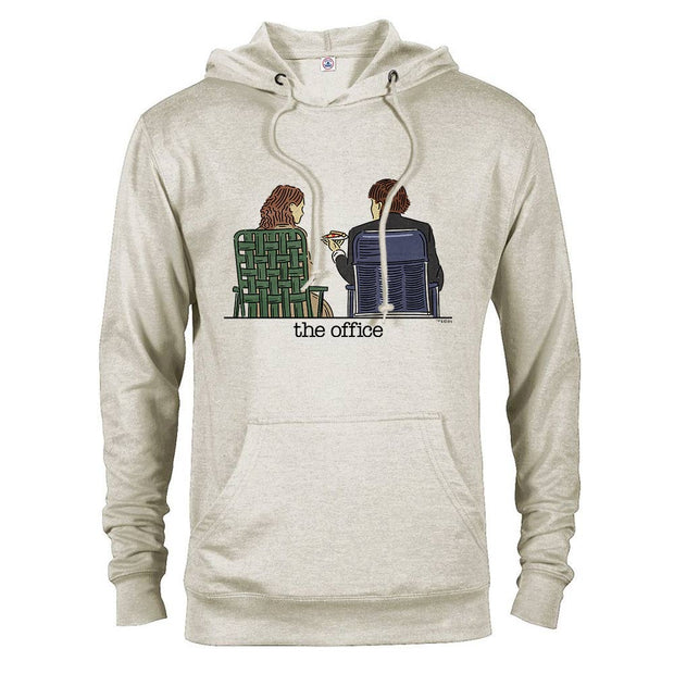 The Office Jim and Pam Roof Date Lightweight Hooded Sweatshirt