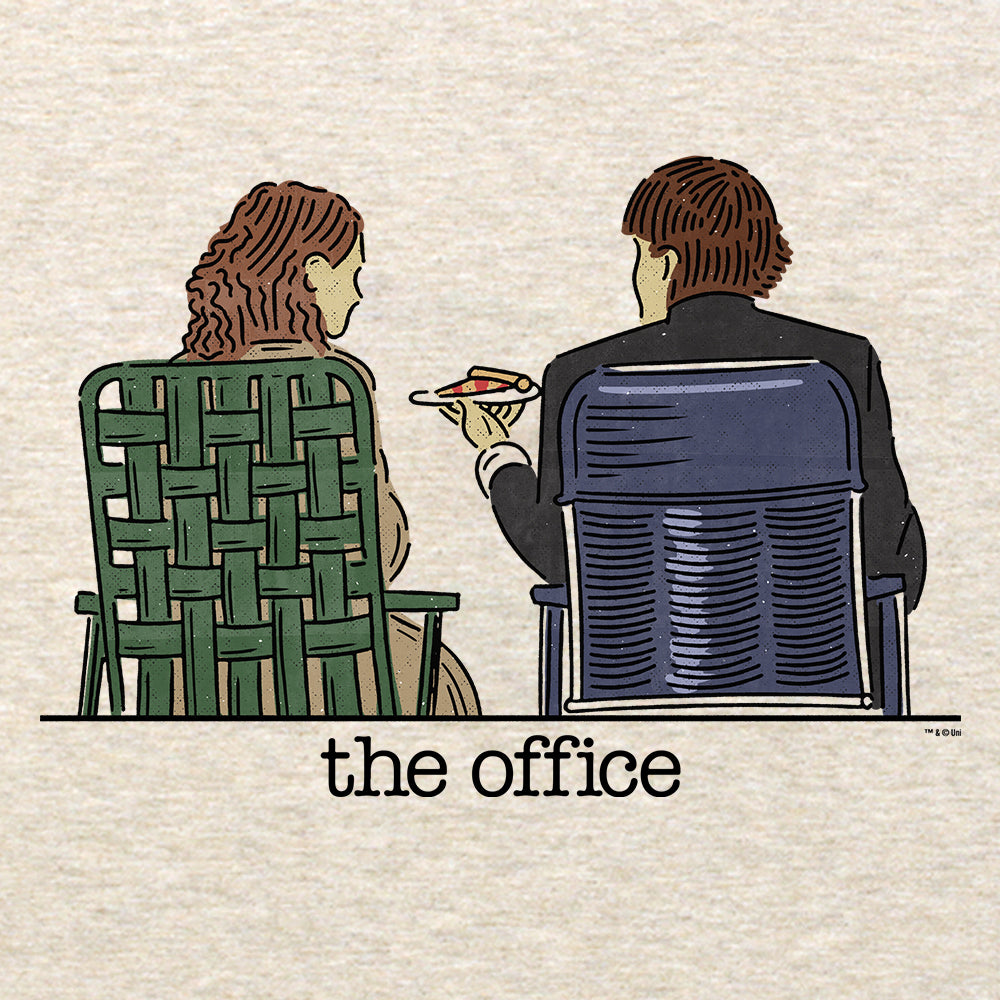 The Office Jim and Pam Roof Date Lightweight Hooded Sweatshirt-secondary-image