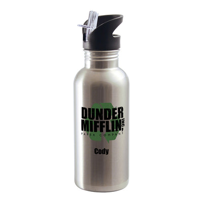 The Office Personalized Dunder Mifflin Recycle Stainless Steel Water Bottle