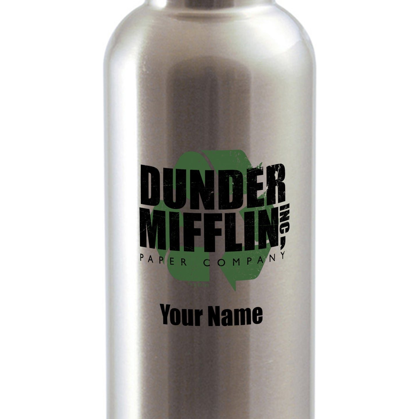 The Office Personalized Dunder Mifflin Recycle Stainless Steel Water Bottle-secondary-image