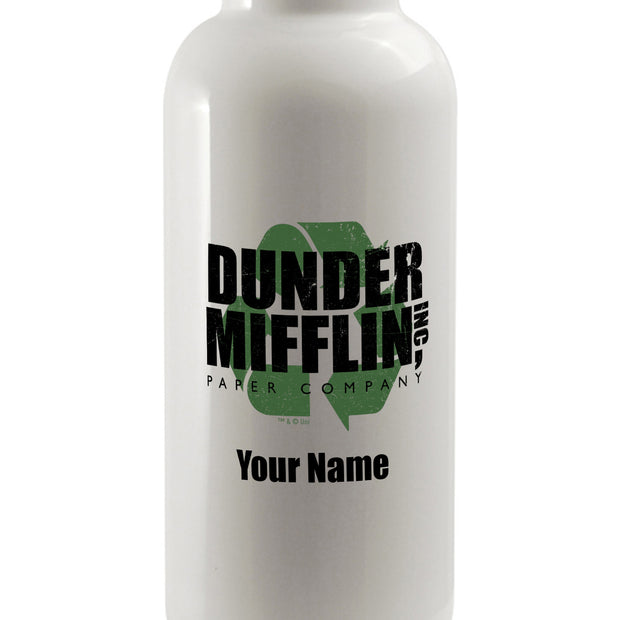Personalized The Office Dunder Mifflin Recycle Water Bottle