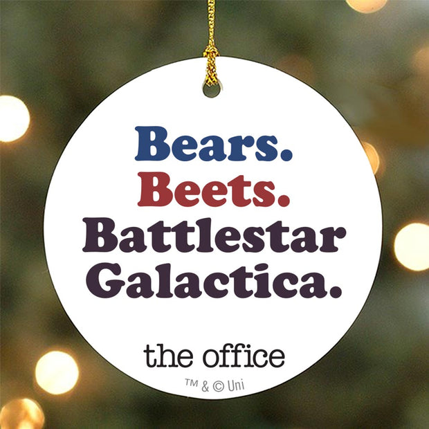 The Office Bears. Beets. Battlestar Galactica Ornament