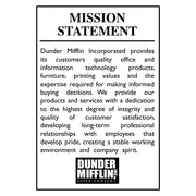The Office Dunder Mifflin Mission Statement Poster