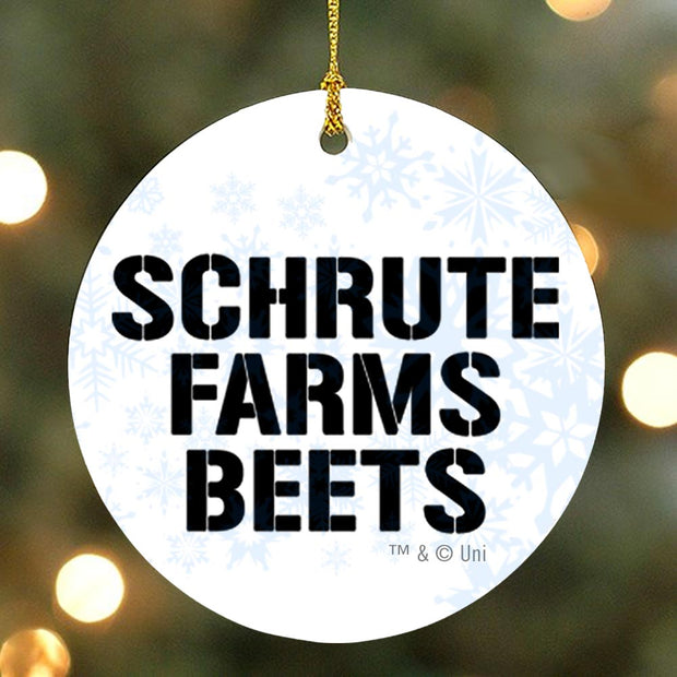 The Office Schrute Farms Beets Ornament