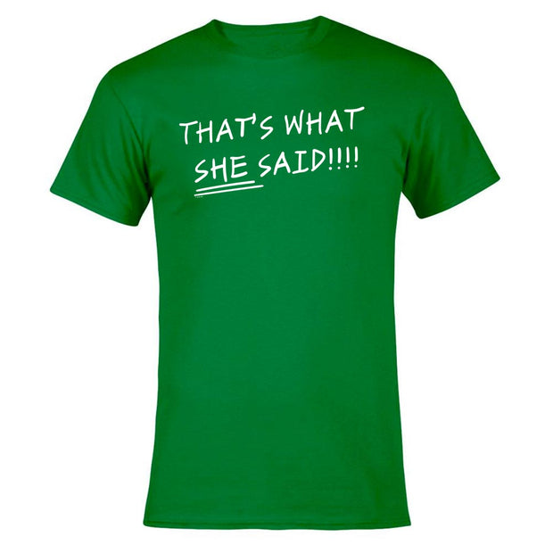 The Office That's What She Said St. Patrick's Day Men's Short Sleeve T-Shirt
