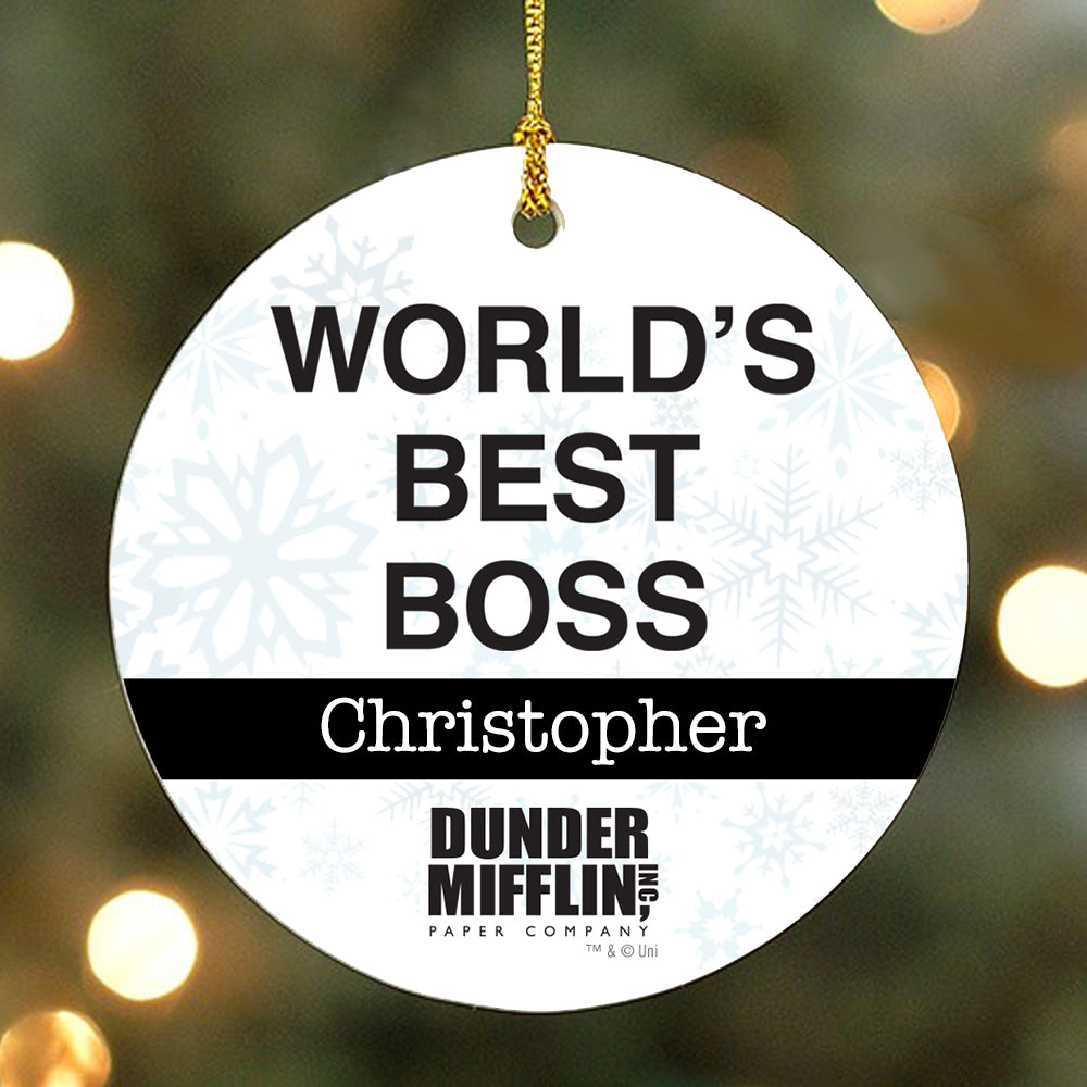 Personalized The Office World's Best Boss Ornament-secondary-image