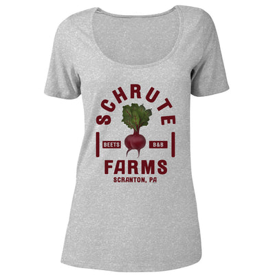 The Office Schrute Farms Women's Relaxed Scoop Neck T-Shirt