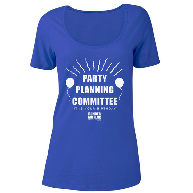 The Office Party Planning Committee Women's Relaxed Scoop Neck T-Shirt
