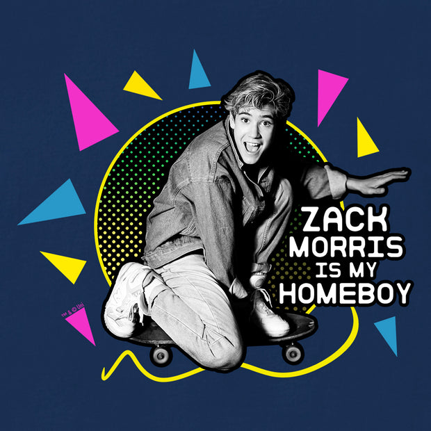 Saved By The Bell Zack Morris is my Homeboy Women's Relaxed Scoop Neck T-Shirt