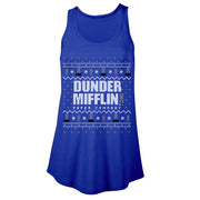 The Office Dunder Mifflin Holiday Women's Flowy Tank Top