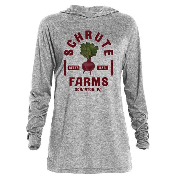 The Office Schrute Farms Tri-blend Raglan Hoodie