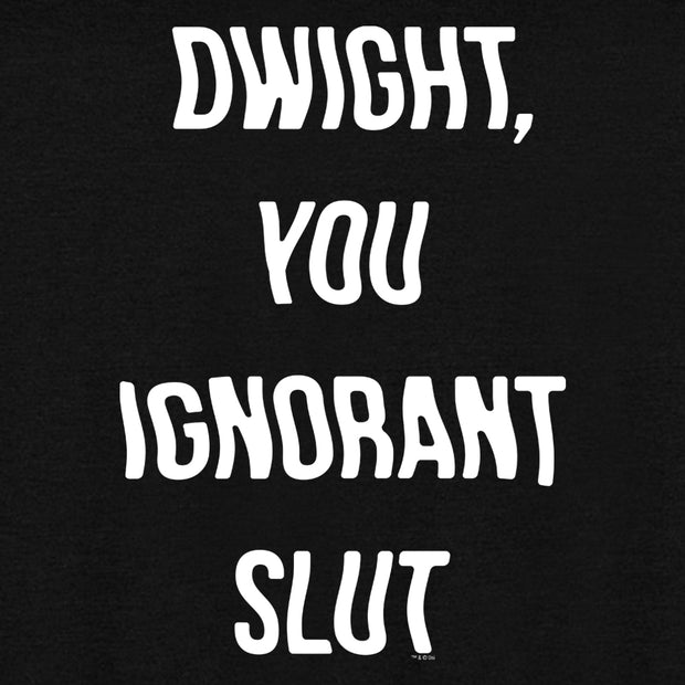 The Office Dwight You Ignorant Slut Tri-blend Raglan Hoodie