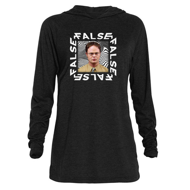 The Office Dwight False Tri-blend Raglan Hoodie