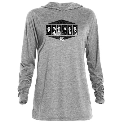 Saved By The Bell Black and white Cast Tri-Blend Raglan Hoodie