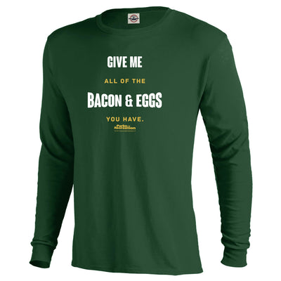 Parks and Recreation Bacon and Eggs Men's Long Sleeve T-Shirt