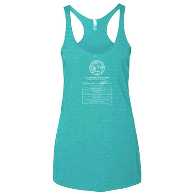 Parks and Recreation Certificate of Business Women's Tri-Blend Racerback Tank Top