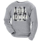 Parks and Recreation Ron Swanson Clear Alcohols Crew Neck Sweatshirt