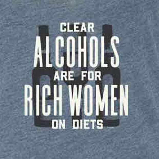 Parks and Recreation Ron Swanson Clear Alcohols Women's Tri-Blend Racerback Tank Top