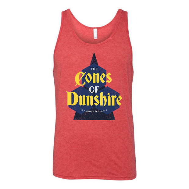 Parks and Recreation The Cones of Dunshire Tri-Blend Tank Top