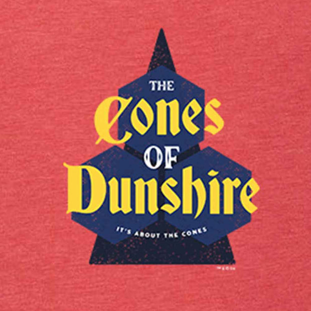 Parks and Recreation The Cones of Dunshire Men's Tri-Blend Short Sleeve T-Shirt
