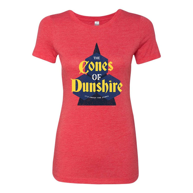 Parks and Recreation The Cones of Dunshire Women's Tri-Blend Short Sleeve T-Shirt