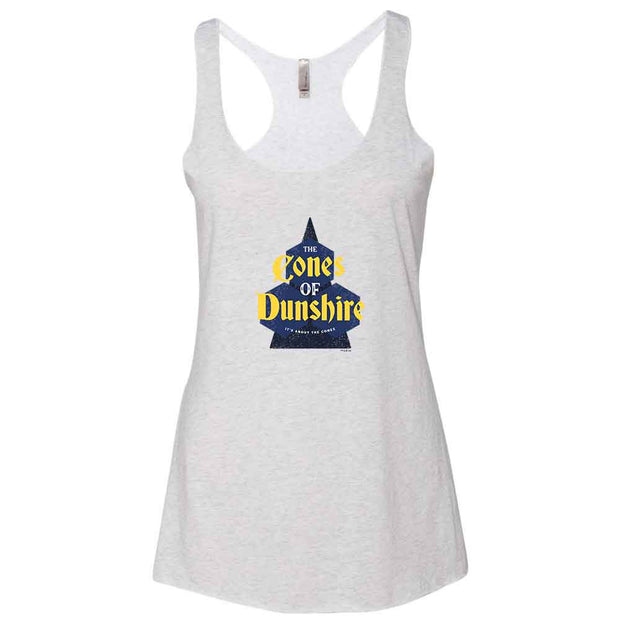 Parks and Recreation The Cones of Dunshire Women's Tri-Blend Racerback Tank Top