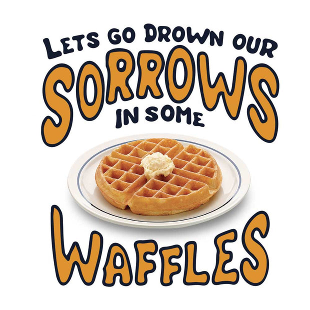 Parks and Recreation Drown Our Sorrows in Some Waffles White Mug