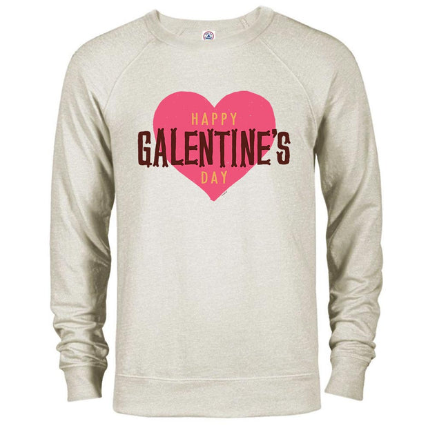Parks and Recreation Happy Galentine's Day Lightweight Crew Neck Sweatshirt