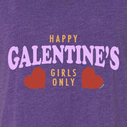 Parks and Recreation Happy Galentine's Girls Only Women's Tri-Blend Dolman T-Shirt