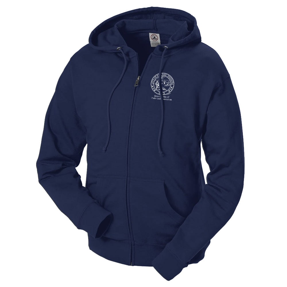 Parks and Recreation Lightweight Zip Up Hooded Sweatshirt