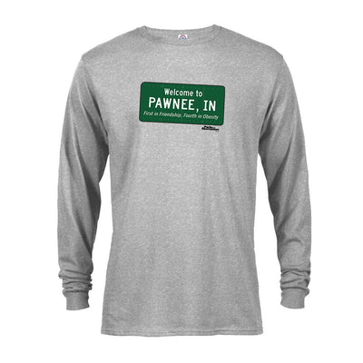 Parks and Recreation Pawnee Sign Long Sleeve T-Shirt