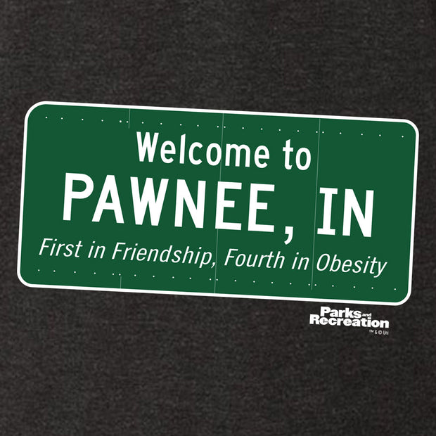 Parks and Recreation Pawnee Sign Men's Tri-Blend Short Sleeve T-Shirt