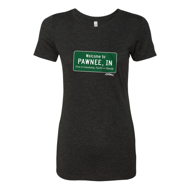 Parks and Recreation Pawnee Sign Women's Tri-Blend Short Sleeve T-Shirt