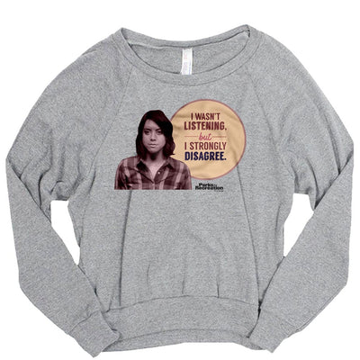 Parks and Recreation I Strongly Disagree Women's Tri-Blend Pullover Sweatshirt