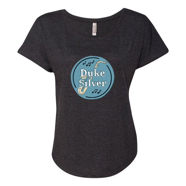 Parks and Recreation Duke Silver Women's Tri-Blend Dolman T-Shirt