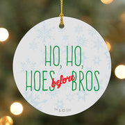 Parks and Recreation Ho  Ho  Hoes Before Bros Ornament