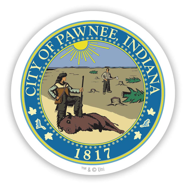 Parks and Recreation Pawnee Seal 2 1/2 Stickers - 96 Pack
