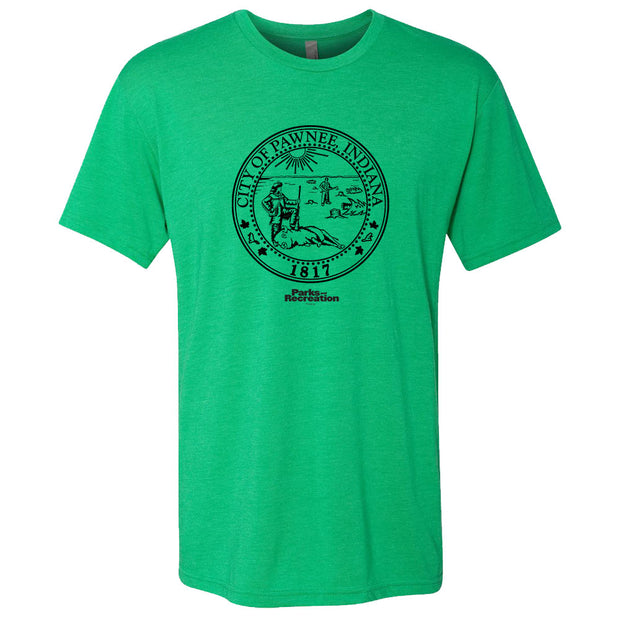 Parks and Recreation Pawnee Seal St. Paddy's Day Men's T-Shirt