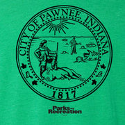 Parks and Recreation Pawnee Seal St. Paddy's Day Women's T-Shirt