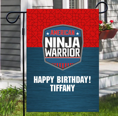 Personalized American Ninja Warrior Flag
